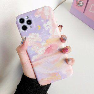 iPhone XR Pastel Sky Cloud Oil Painting Phone Case